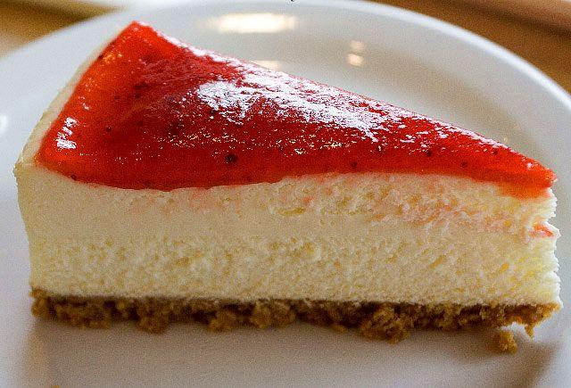 Gambino's strawberry cheese cake
